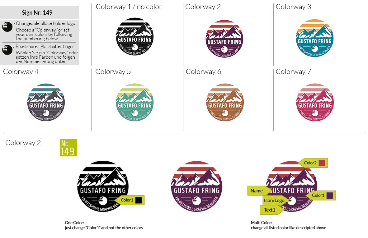 149 Make Look Branding Logo Smal Colorways 001