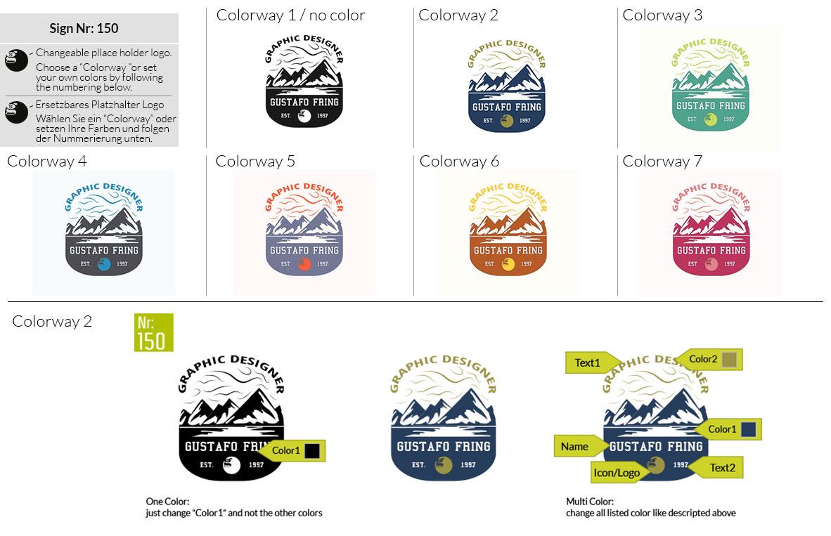 150 Make Look Branding Logo Smal Colorways 001