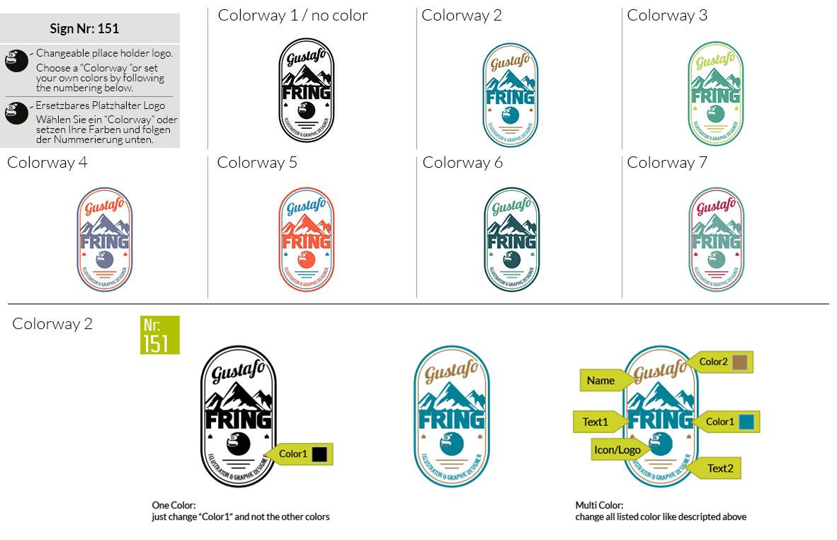 151 Make Look Branding Logo Smal Colorways 001