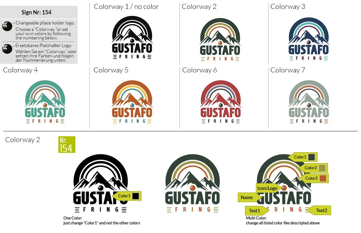 154 Make Look Branding Logo Smal Colorways 001