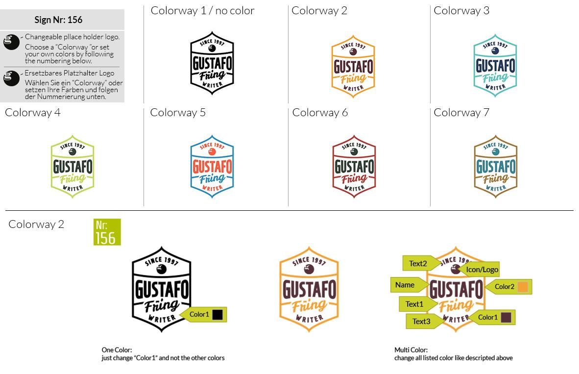 156 Make Look Branding Logo Smal Colorways 001