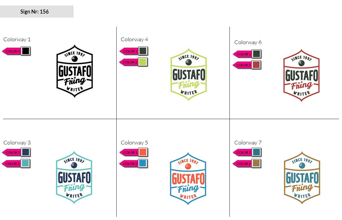 156 Make Look Branding Logo Smal Colorways 002