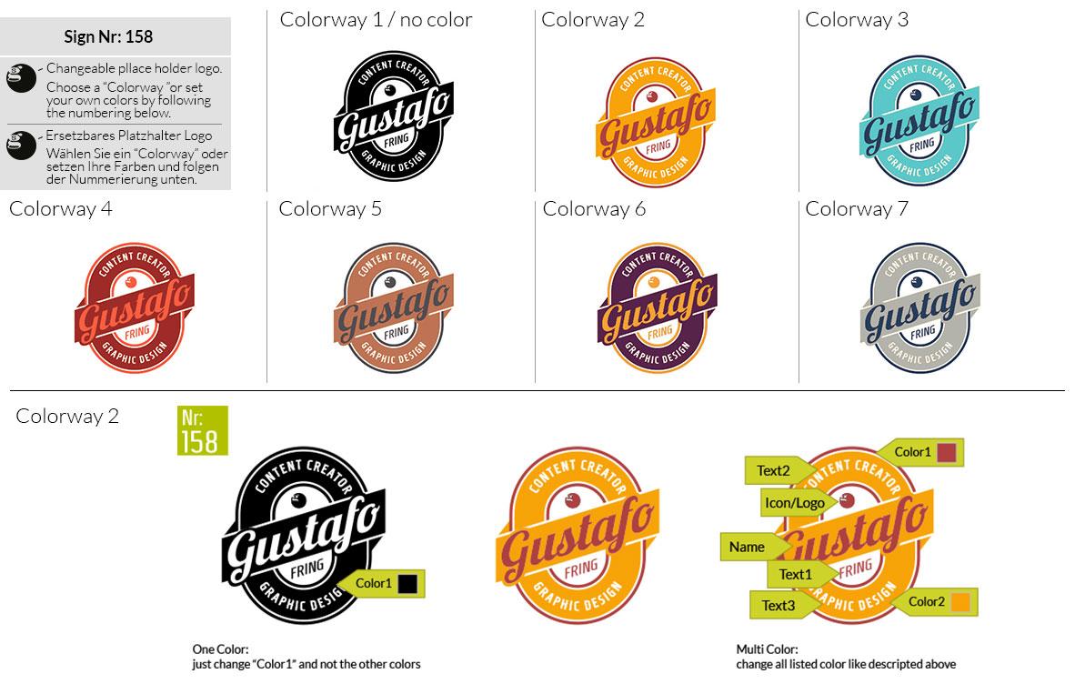 158 Make Look Branding Logo Smal Colorways 001