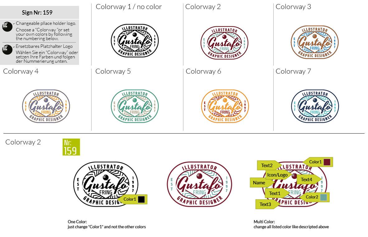 159 Make Look Branding Logo Smal Colorways 001