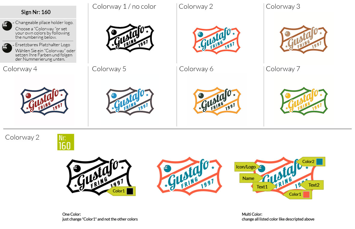 160 Make Look Branding Logo Smal Colorways 001