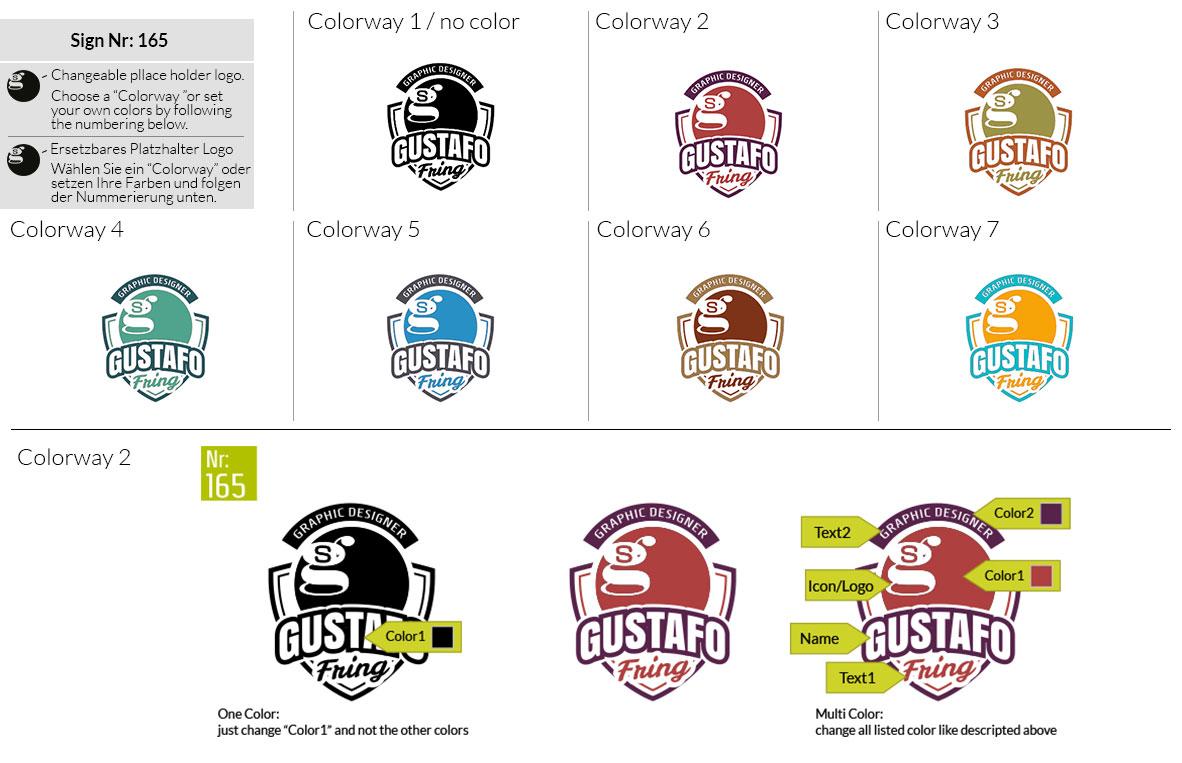 165 Make Look Branding Logo Smal Colorways 001