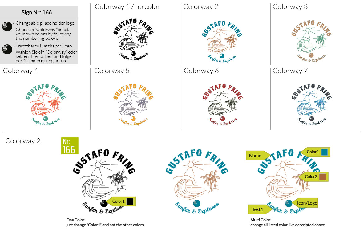 166 Make Look Branding Logo Smal Colorways 001