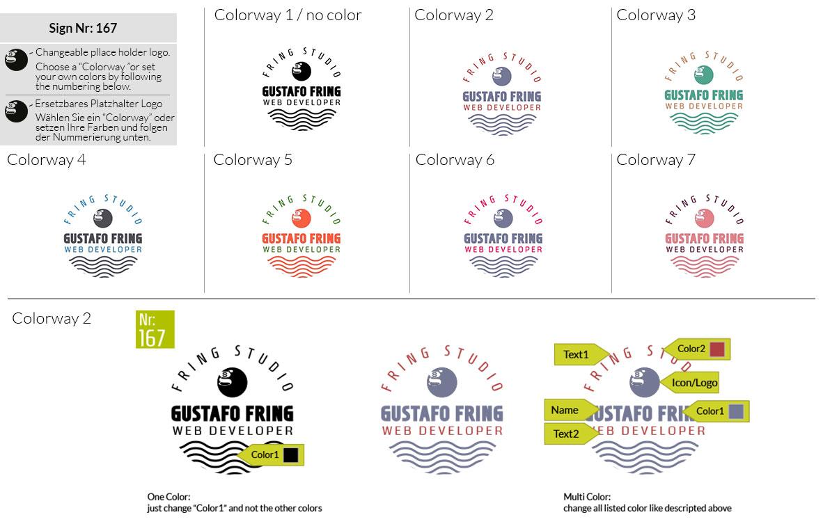167 Make Look Branding Logo Smal Colorways 001
