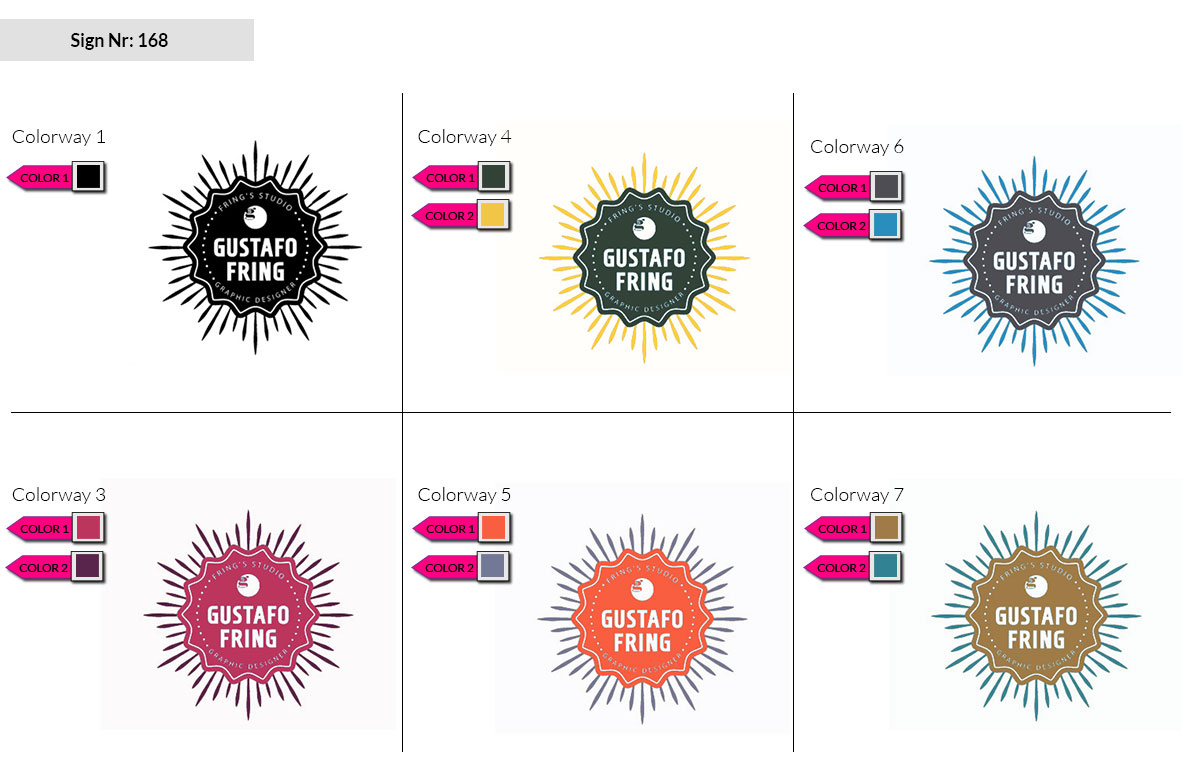 168 Make Look Branding Logo Smal Colorways 002