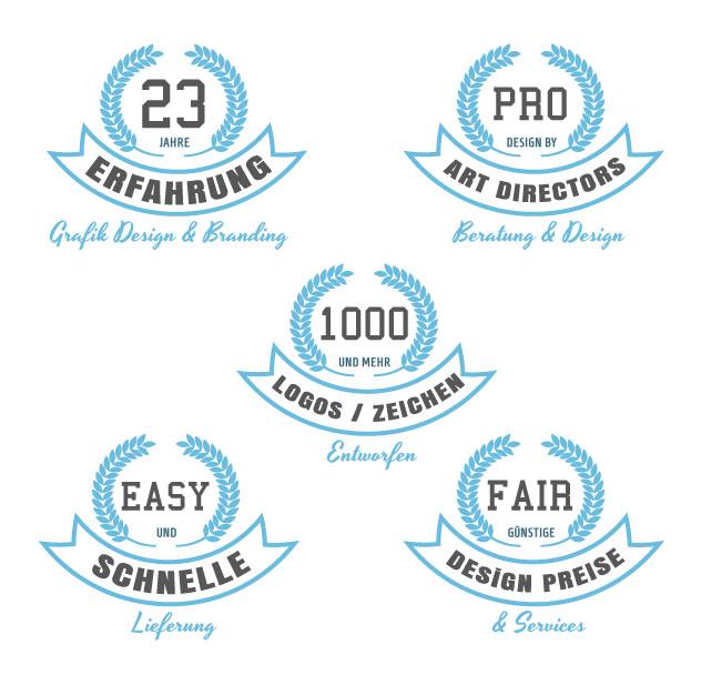 Geschäftsausstattung Branding Logodesign günstig erstellen lassen