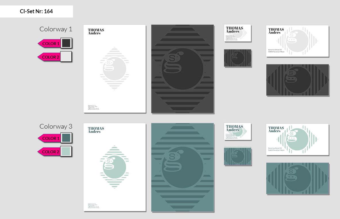 164 Stationery Corporate Design Geschaeftsausstattung Branding 3