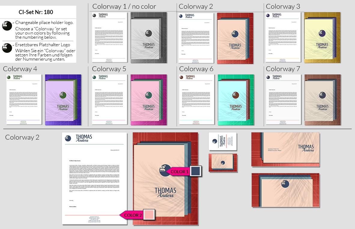 180 Stationery Corporate Design Geschaeftsausstattung Branding 2