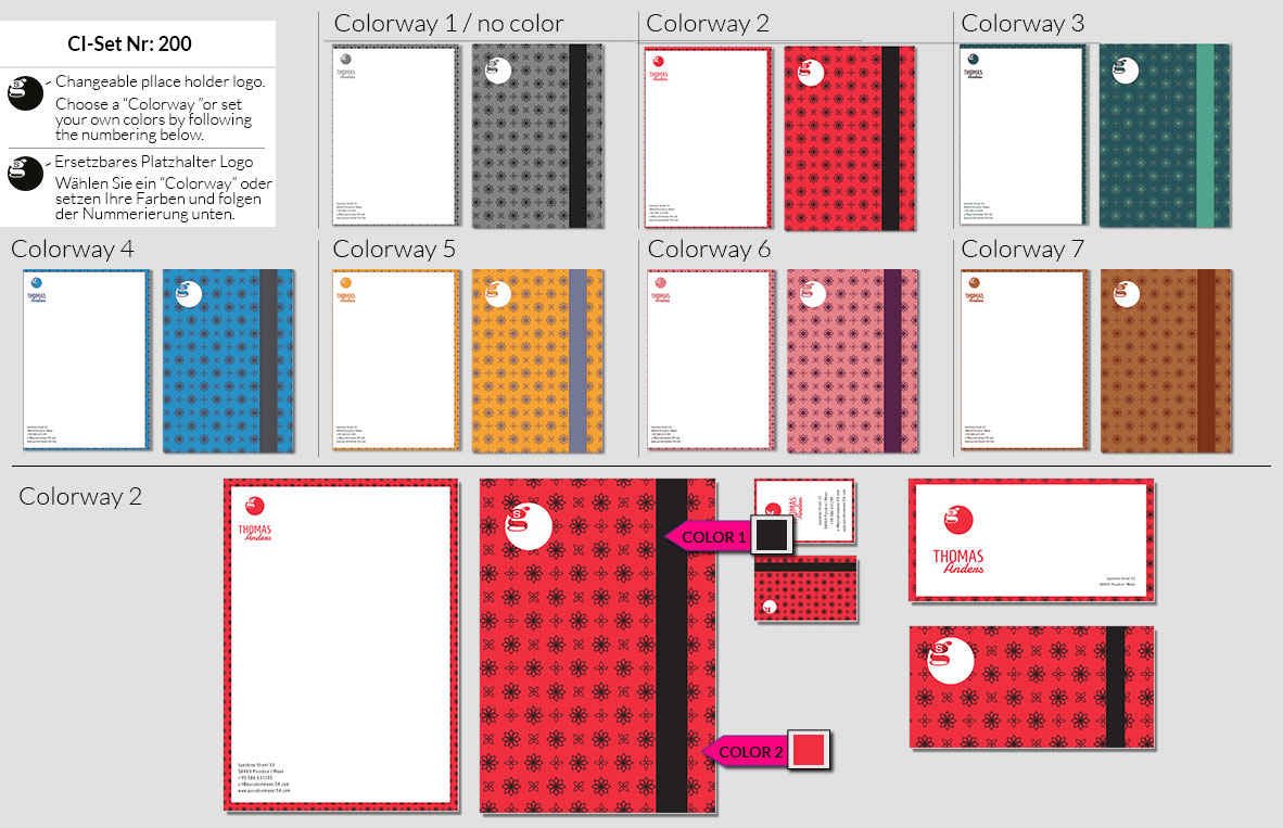 200 Stationery Corporate Design Geschaeftsausstattung Branding 3